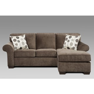 Sofa Trendz Cree Chocolate Brown Polyester Blend Sectional