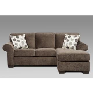 Sofa Trendz Cleo Grey Polyester Sofa/ Chaise Sleeper