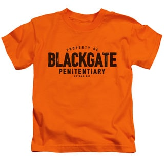 Batman/Blackgate Short Sleeve Juvenile Graphic T-Shirt in Orange
