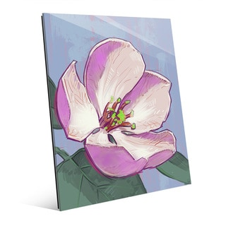 Apple Blossom on Blue' Acrylic Wall Art