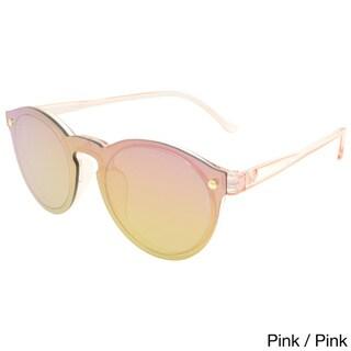 Hot Optix Women's Multicolored Fashion Round Mirrored Sunglasses