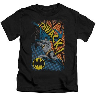 Batman/Thwack Short Sleeve Juvenile Graphic T-Shirt in Black