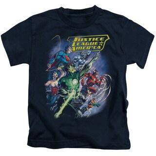JLA/Onward Short Sleeve Juvenile Graphic T-Shirt in Navy