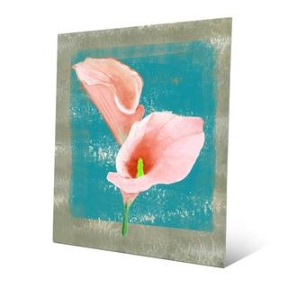 'Gentle Calla Lily' Multicolored Metal Wall Art