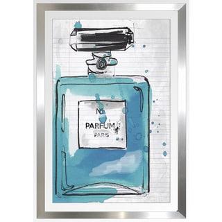 """BY Jodi """"Blue Perfum"""" Framed Plexiglass Wall Art"""