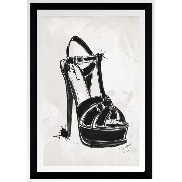 "BY Jodi ""Black Y Sandle"" Framed Plexiglass Wall Art"