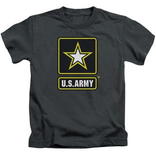 Army/Logo Short Sleeve Juvenile Graphic T-Shirt in Charcoal