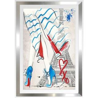 """BY Jodi """"American In Paris"""" Framed Plexiglass Wall Art"""