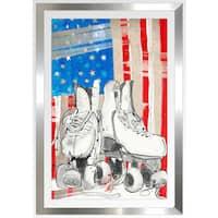 "BY Jodi ""All American"" Framed Plexiglass Wall Art"