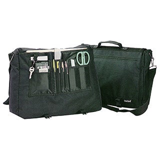 Goodhope Green Polyester/Vinyl/Fabric Flapover Briefcase