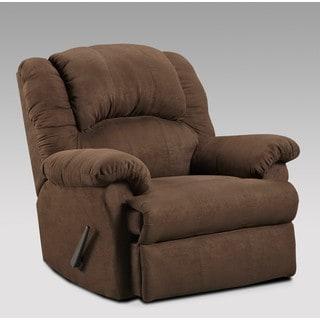 Sofa Trendz Brown Upholstered Cree Rocker Recliner