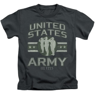 Army/United States Army Short Sleeve Juvenile Graphic T-Shirt in Charcoal
