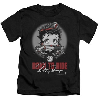 Boop/Born To Ride Short Sleeve Juvenile Graphic T-Shirt in Black