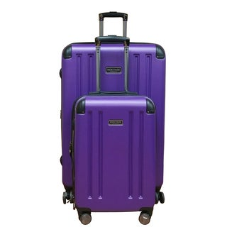 Heritage Ohare Purple Lightweight 2-Piece Hardside Spinner Luggage Set