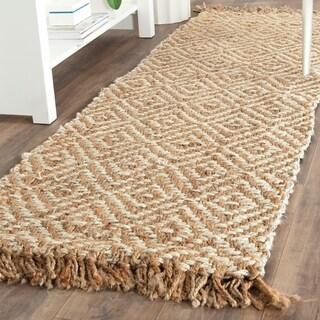 Safavieh Hand-Woven Natural Fiber Natural / Ivory Jute Runner Rug (2' x 14')