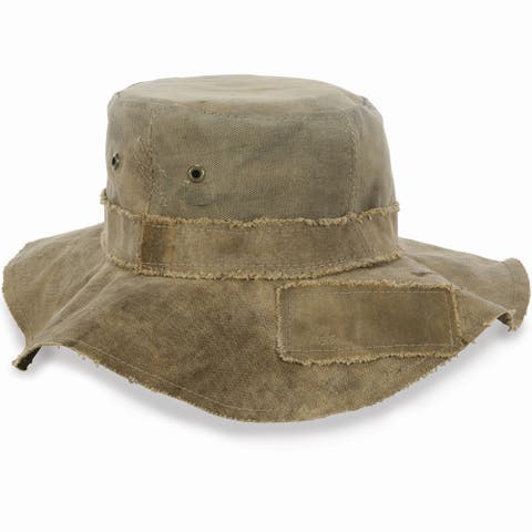 ce3db7f5 Real Deal Brazil Tan Recycled Cotton Canvas The Floppy Travel Hat