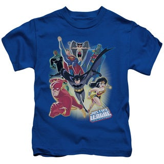 JLA/Unlimited Short Sleeve Juvenile Graphic T-Shirt in Royal