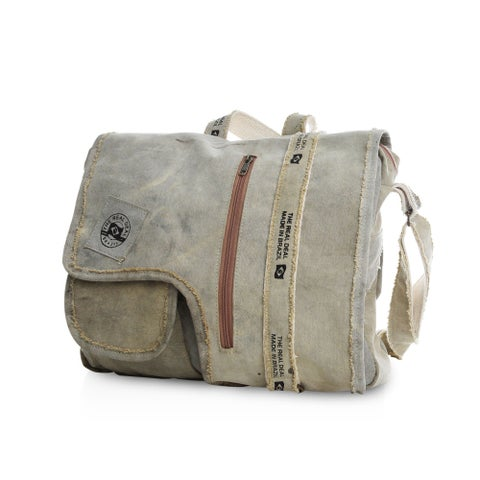 Real Deal Brazil Recycled Cotton Canvas Iguape Messenger Bag