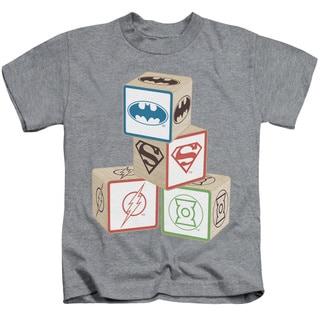 JLA/Baby Block Short Sleeve Juvenile Graphic T-Shirt in Athletic Heather