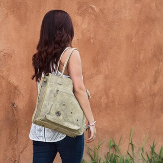 The Real Deal Brazil Macapa Tan Recycled Cotton and Canvas Tote Bag
