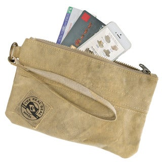 The Real Deal Brazil's Recycled Cotton Canvas Salinas Wristlet