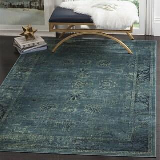 Safavieh Vintage Oriental Turquoise / Multicolored Viscose Rug (3'4 x 4'7)