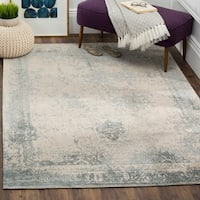 Safavieh Classic Vintage Grey Cotton Abstract Distressed Rug - 6' 7 x 9' 2