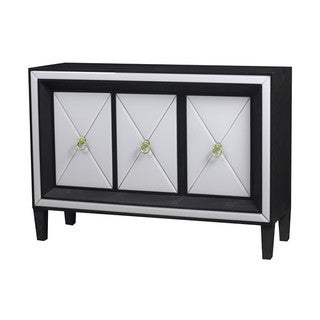 Beverly White/Black/Gold Wood and Glass Buffet