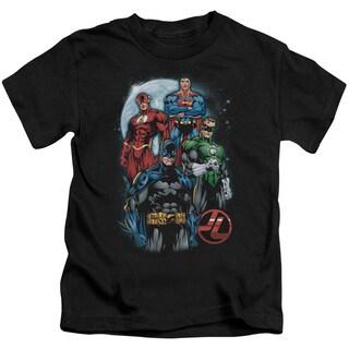 JLA/The Four Short Sleeve Juvenile Graphic T-Shirt in Black