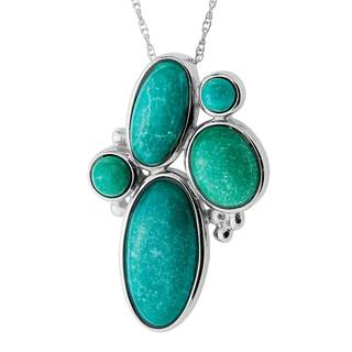 Turquoise Sterling Silver Hubie Chinese Pendant Necklace