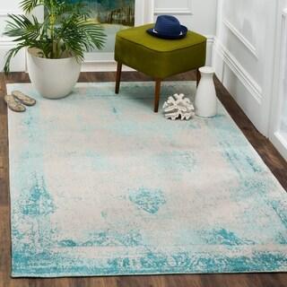 Safavieh Classic Vintage Turquoise Cotton Rug (6' 7 x 9' 2)