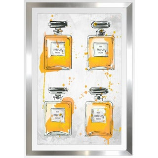"BY Jodi ""Yellowperfume Bottles X4"" Framed Plexiglass Wall Art"