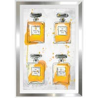 "BY Jodi ""Yellowperfume Bottles X4"" Framed Plexiglass Wall Art"