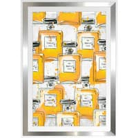 "BY Jodi ""Yellowperfume Bottles Re Mix"" Framed Plexiglass Wall Art"