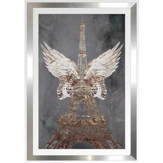"""BY Jodi """"Wings Of Paris"""" Framed Plexiglass Wall Art"""