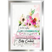 "BY Jodi ""What To Expect"" Framed Plexiglass Wall Art"