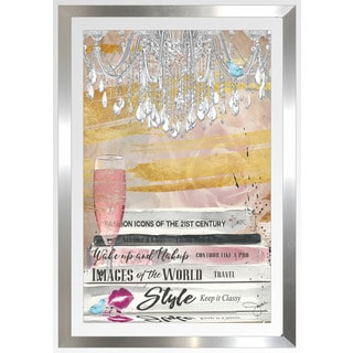"BY Jodi ""Well Read Pink"" Framed Plexiglass Wall Art"