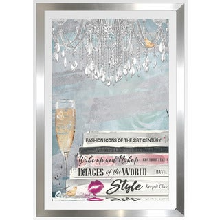 "BY Jodi ""Well Read Blue"" Framed Plexiglass Wall Art"
