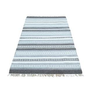 Kilim Oriental Hand-woven Striped Reversible Flatweave Rug (3' x 5'2)