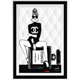 "BY Jodi ""Waiting For Chanel"" Framed Plexiglass Wall Art"