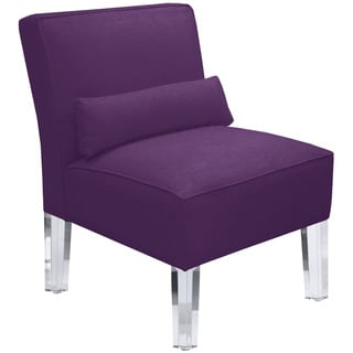 Skyline Furniture Duck Purple Acrylic Leg Armless Chair