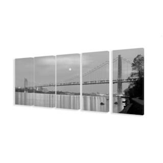 George Washington Bridge 5-piece Stretched Canvas Wall Art Set