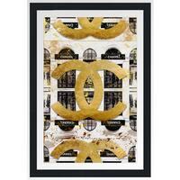 """BY Jodi """"Shop  In Black 24X36"""" Framed Plexiglass Wall Art"""