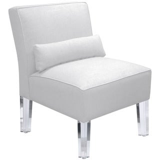 Skyline Furniture Duck White Armless Chair with Acrylic Legs