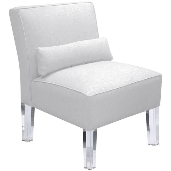 Incroyable Skyline Furniture Duck White Armless Chair With Acrylic Legs
