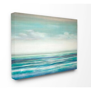 Stupell 'Blue Ocean Sunset' Stretched Canvas Wall Art
