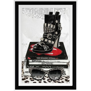 "BY Jodi ""Rock On"" Framed Plexiglass Wall Art"