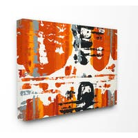 Burnt Orange Momentum Stretched Canvas Wall Art