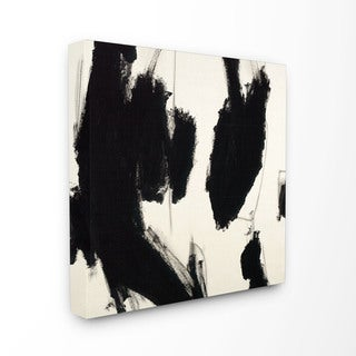 Black and White Stretched Canvas Abstract Wall Art