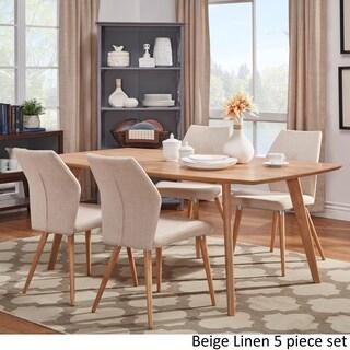 Abelone Scandinavian Oak Dining Set iNSPIRE Q Modern (More options available)